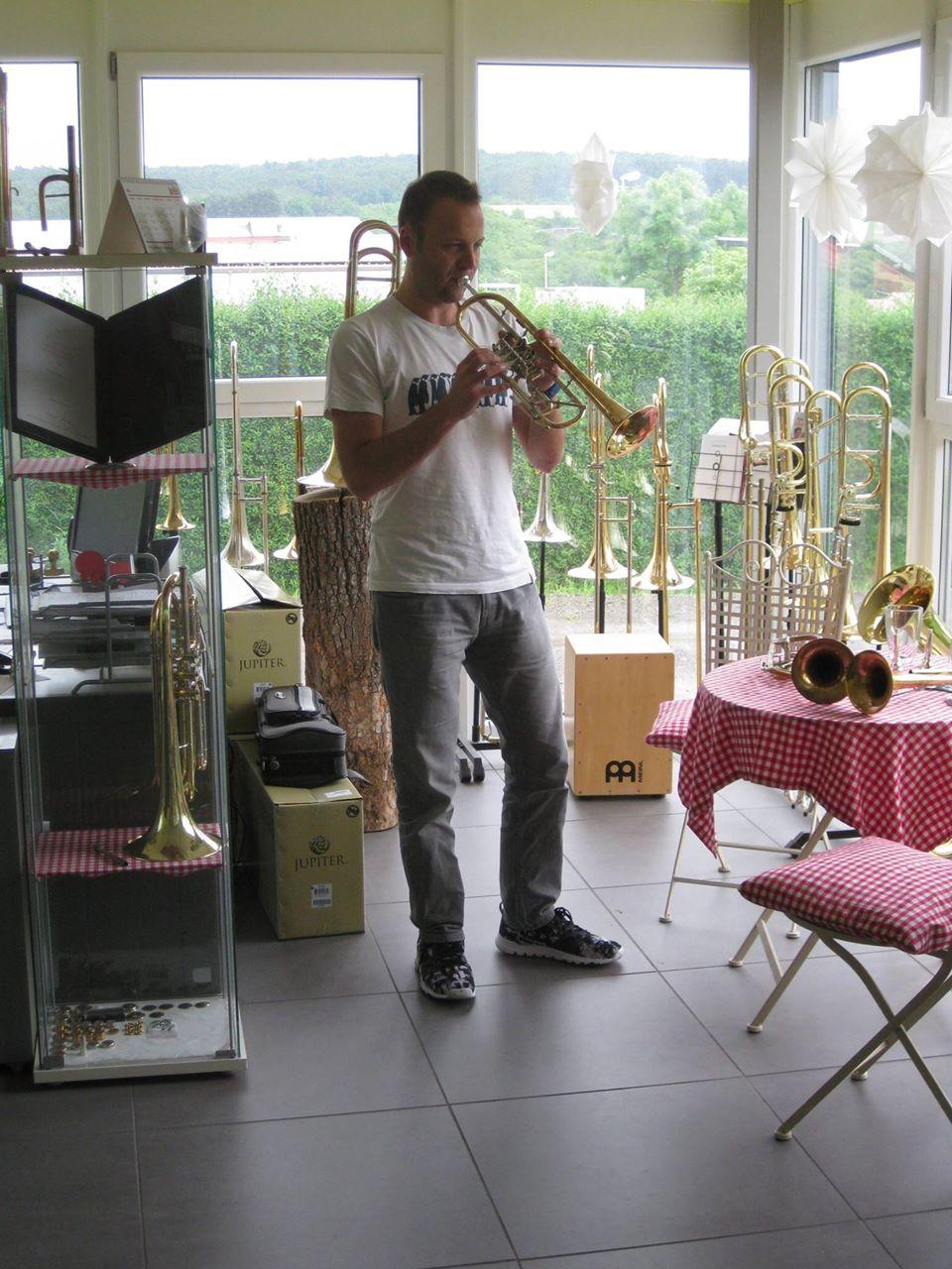 Solotrompeter Johannes Mauer Zu Besuch