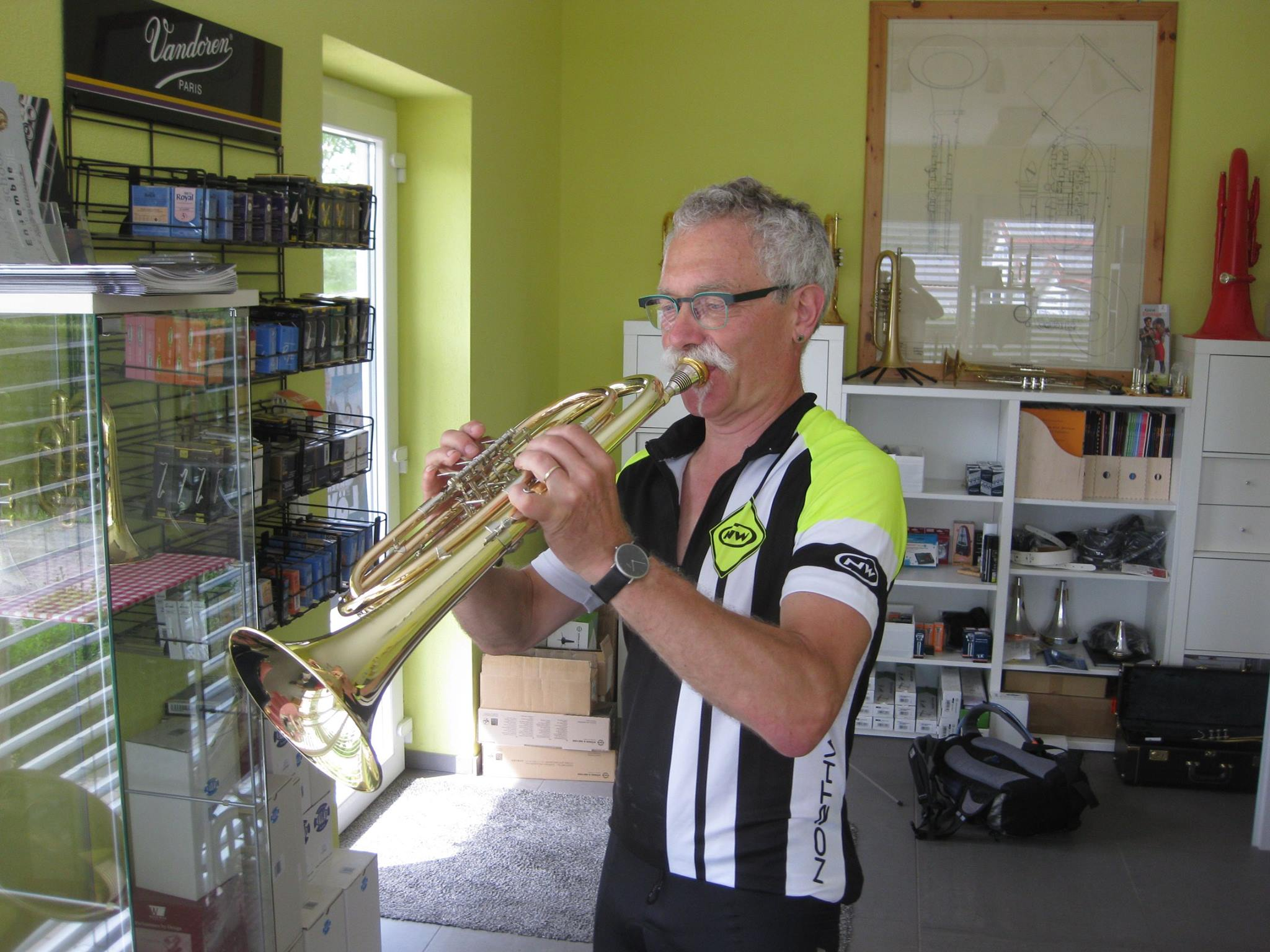 Bernhard Leitz Mit Neuer C-Basstrompete
